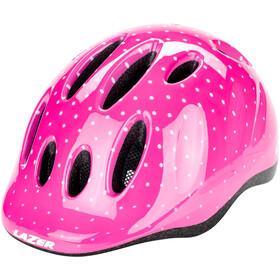 Lazer Max+ Helm Kinder pink dots